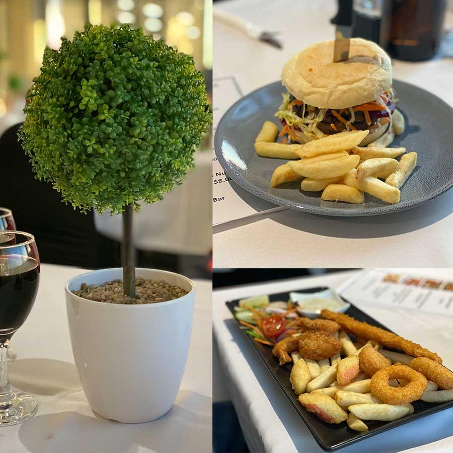 Bunbury Trotting Club Dining Collage