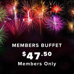 NYE Members Buffet Ticket